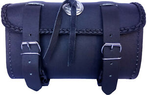 Motorcycle Tool Bag Leather Rider Biker Thick Motorbike Real Leather Tool Bag