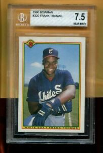 FRANK THOMAS CHICAGO WHITE SOX 1990 BOWMAN #320 ROOKIE CARD BECKETT GRADE 7.5