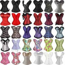 Plus Size Underbust Steampunk Corset Top Burlesque Costume Waist Trainer Corsets