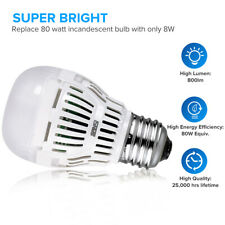 USED SANSI LED Light Bulbs Daylight 6-Pack A15 E26 800lm 8W 5000K 60-80W Equiv.