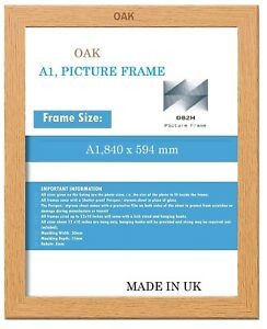 A1 OAK PICTURE,PHOTO,POSTER, FRAME,SIZE (840 x 594mm)