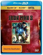 Iron Man 3 (Blu-ray, 2013, 2-Disc Set) NEW SEALED