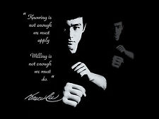 Australian SELLER Bruce Lee Kung Fu Quote Film Poster Art Print Movie