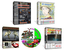 2D 3D Graphics Animation Software Create Full Cartoons Image Photo Editors PC CD