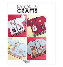 Sew & Make McCall's M4735 SEWING PATTERN - Appliques SAILBOAT SNOWMAN CAT STARS
