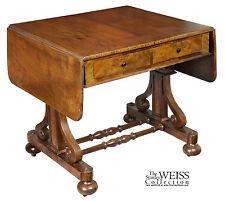 SWC-Walnut Gothic Sofa Table, NY, c. 1840