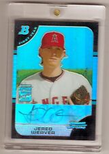 2005 Bowman Chrome Draft Jered Weaver RC Auto Refractor/500
