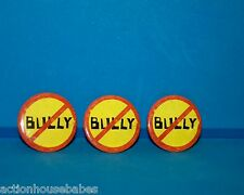 """NO """"BULLY"""" PROMOTIONAL ITEMS - 3 MOVIE POSTER BUTTONS/PINS/ LAPEL/HAT PIN"""