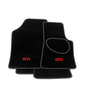 For VW Golf Car Mats Mk2 Fully Tailored with GTI Logo - CUSTOMISE NOW!