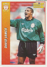 N°260 DAVID JAMES LIVERPOOL.FC Premier League 1997 MERLIN STICKER VIGNETTE