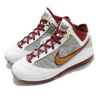 Nike LeBron 7 MVP White Team Red Grey Air Max Mens Basketball Shoes CZ8915-100