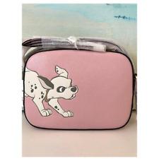 NWT Disney X Coach Camera Crossbody Bag Dalmatian Blossom Pink Gold