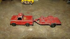 Vintage Lot 2 Diecast Cars Large Collection-Tootsietoy Pickup,Motorcycle Trailer