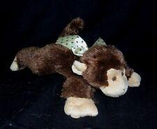 "9"" BEARINGTON BABY COLLECTION BROWN MONKEY APE RATTLE STUFFED ANIMAL PLUSH TOY"