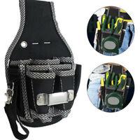 Multi-Function Pocket Utility Gadget Tools Bag Organizer with Belt Waist Black