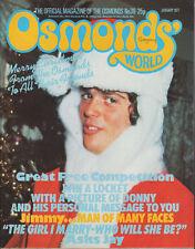 Osmonds' World Magazine Issue No.39  January 1977    The Osmonds    Donny Osmond