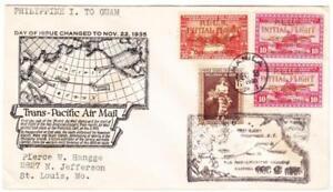 Philippines Sc#C53,#C52(pair)#385-TRANSPACIFIC CLIPPER-FIRST FLIGHT-MANILA