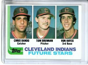 1982 TOPPS CHRIS BANDO ROOKIE ( NM-MT OR BETTER )