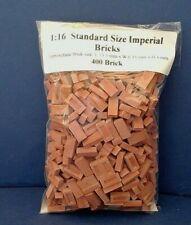 1:16 Scale Diorama Accessories   ( 400 ) UK Standard Size Imperial Bricks in Red