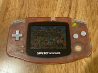 GameBoy Advance Nintendo GBA Japan Console Handheld AGB001 Clear Milky Pink