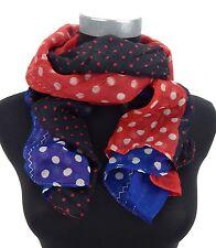 Punkteschal rot blau weiß schwarz Ella Jonte Damenschal Punkte Mix Schal Viskose