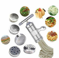 Kitchen Stainless Steel Noodle Pasta Vegetables Press Maker Machine w/5 Mould