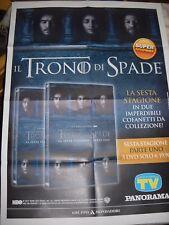 LOCANDINA POSTER MANIFESTO IL TRONO DI SPADE  DVD 6 FILM cm 62,00 x 86,00 cm