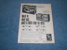 1966 AMT Model Kits Vintage Ad Dodge Deora and His 'N Hers Sonny Cher Mustang