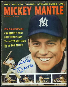 Mickey Mantle Autographed Signed Baseball's King Magazine Yankees Beckett A60526