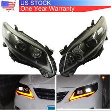 For Toyota Corolla 2011-2013 Headlights DRL Halo LED Projector Head lights