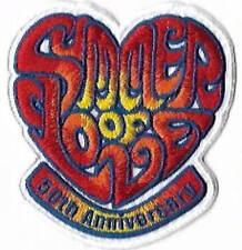Summer of Love Embroidered Patch / Iron On Applique, Groovy 60s, Hippie, Music