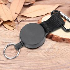 1X Recoil Extendable Metal Wire 60cm Key Chain Ring Clip Pull Keyring Retracting