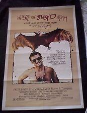 WHERE THE BUFFALO ROAM movie poster BILL MURRAY original 1980 one sheet HUNTER S