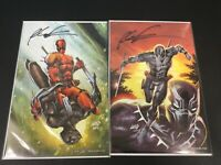 Marvel Black Panther vs Deadpool #1 ROB LIEFELD VARIANT SET - SIGNED BY ROB C2E2
