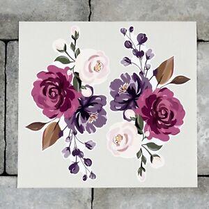 2 x Rose Flower Vinyl Stickers Decals Wall MacBook Laptop iPad - SKU6876