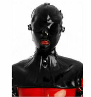 Latex Rubber Full Head Hoods Neck Corset Lace Up Halskorsett Customized 0.6mm