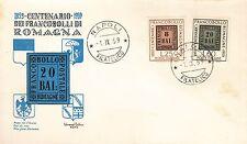 ITALIA BUSTA FDC UNIVERSAL  1959 100° FRANCOBOLLO ROMAGNE  ANNULLO NAPOLI