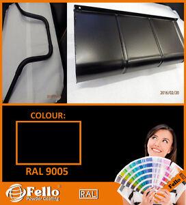 Powder Coating Powder Paint - RAL 9005 BLACK Matt SATIN 5KG POLYSTER