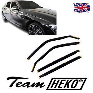 SUN SHADE + Wind Deflectors BMW 3 SERIES F30  Saloon 2011-2019 4 pcs HEKO Tinted