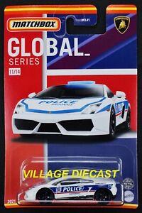2021 Matchbox Global Series #11 Lamborghini Gallardo Police WHITE / FRANCE / MOC