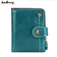 Women Genuine Leather Bifold Wallet Credit Card ID Holder Retro Zipper Purse New