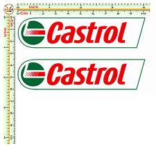 Adesivi CASTROL sticker auto moto decal tuning stampa pvc scontornati 2 PZ.