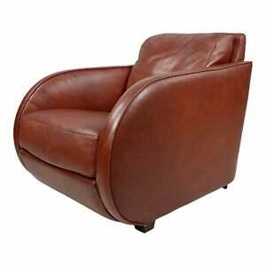 Roche Bobois Fabulous vintage Art Deco style Leather Club Chair