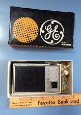 Vintage General Electric AM Transistor Radio 9 Volt w/Original Box Paperwork