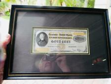 USA - BEP 1882 $10,000 Gold Certificate & 1899 $5 Silver Certificate Framed