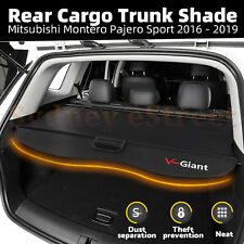 Car Trunk Shade Rear Cargo Security Cover For Mitsubishi Pajero Sport 2016-2019