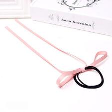 Women Girl Hairtie Silk Ribbon Long streamers Fashion Korean Hair Ropes Tie Band
