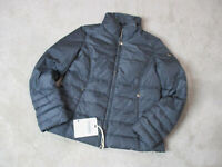 NEW Geospirit Jacket Womens Medium Size 8 EUR 48 Gray Gold Coat Puffer $330