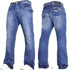 MENS JEANS BOOTCUT FLARED DESIGNER WIDE LEG DENIM JEANS ALL WAIST & SIZES