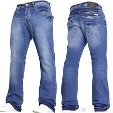 Herren Jeans Bootcut Ausgestellt Designer Weites Bein Alle Taillen & Größen